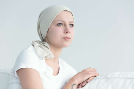 Woman with cancer feeling positive, and having hope Zdjęcie Seryjne