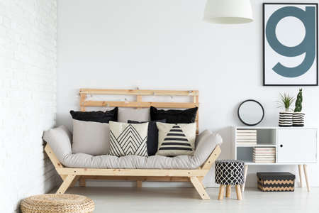 Modern stylish scandinavian living room design