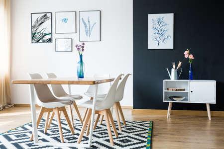 Scandi style designed modern apartment interior