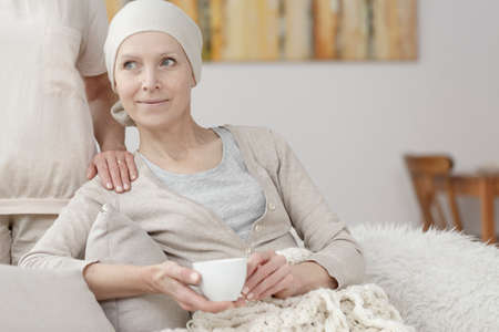 Happy woman with cancer enjoying every moment of life