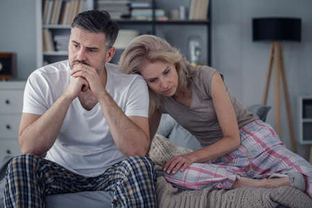 Young couple dealing with a crisis in their relationship caused by communication problems