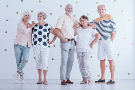 Group of enthusiastic senior people. Friendly relationship between elderly people