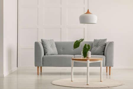Simple living room interior in scandinavian style