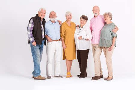 Group of happy senior people standing together Zdjęcie Seryjne