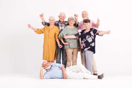Portrait of group of senior friends having fun Zdjęcie Seryjne