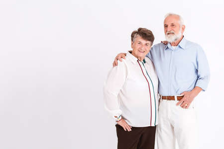 Senior marriage in love posing to the picture