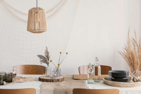 Decoration on the table in rustic tyle Stockfoto