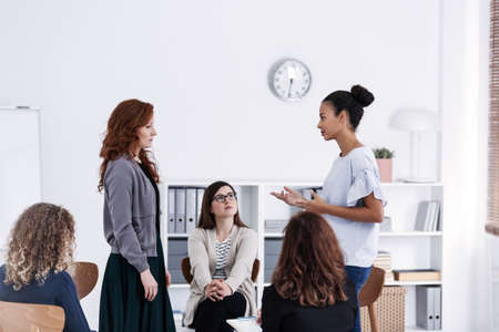 Women's issue support group for females with problems Stock Photo