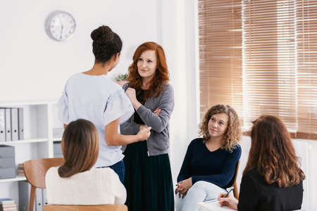 Support group for woman with issues and problems to solve Stock Photo