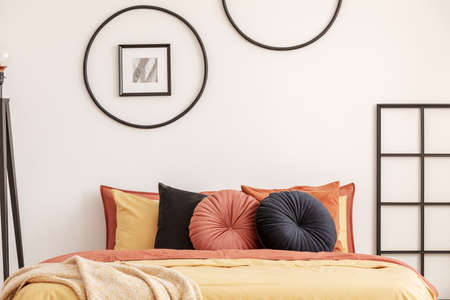 Contemporary bedroom design with stylish colors and furniture