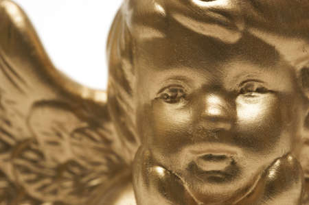 A close up of a golden angel photo