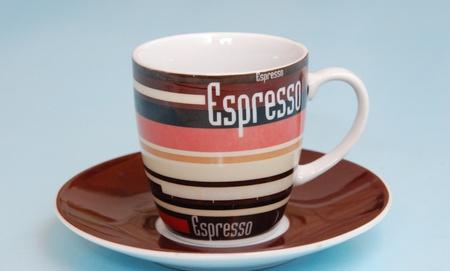 ceramica: Tazzina da caff�  con scritto espresso