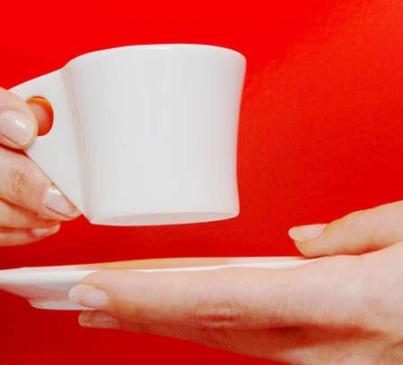 mani: Mani con tazzina di caffè Stock Photo