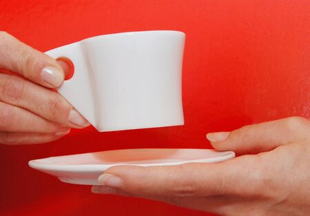 mani: Mani con tazzina di caff�  Stock Photo