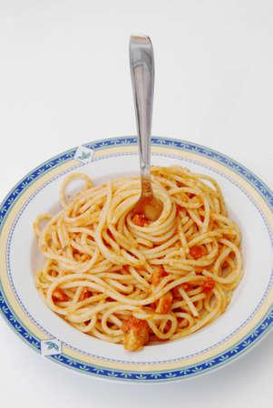spaghetti saus: Pasta bord met spaghetti saus