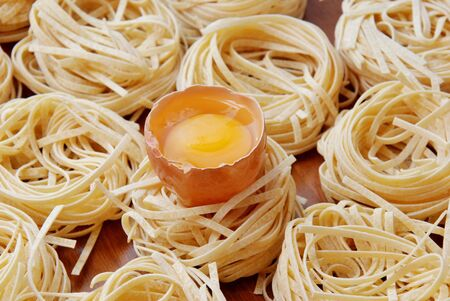 pasta with eggs,noodles,eggs,egg yolk photo