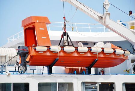 lifeboat: lifeboat by speedboat Stock Photo