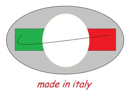 made in italy: illustration logo made in italy Stock Photo