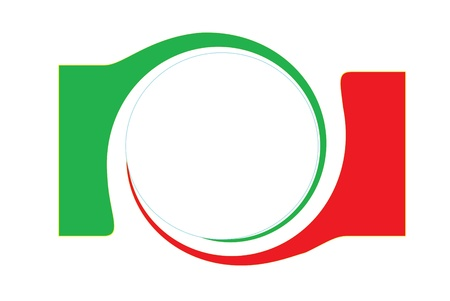 made in italy: abstract design, tricolor white background with stars Stock Photo
