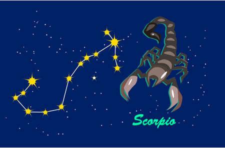 scorpio and zodiac sign constellation