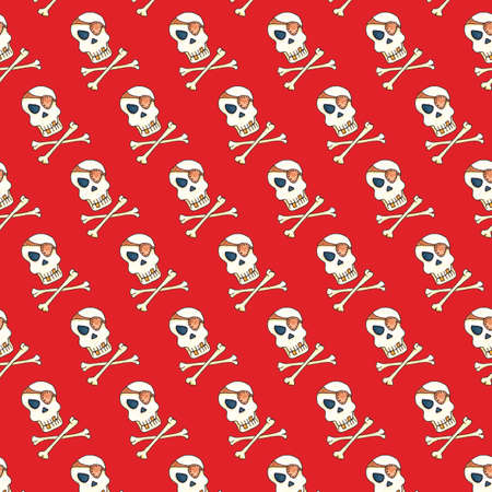 Jolly Roger with eyepatch template.
