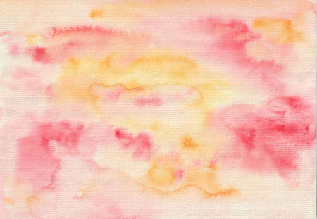 Abstract watercolor pink and peach background. Hand drawn for wedding design