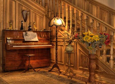 hal in het interieur mooi huis Stockfoto