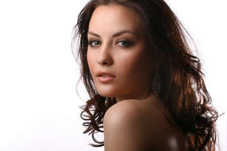 Porträt der schönen Frau trägt einen schwarzen BH Standard-Bild - 4541870