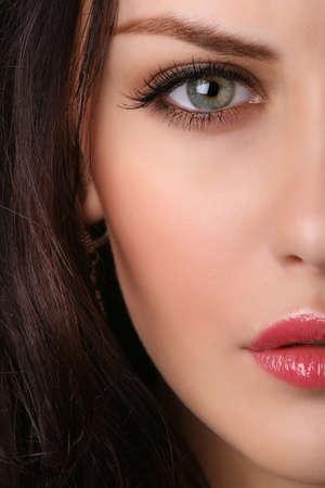 close-up van mooie vrouwelijke gezicht