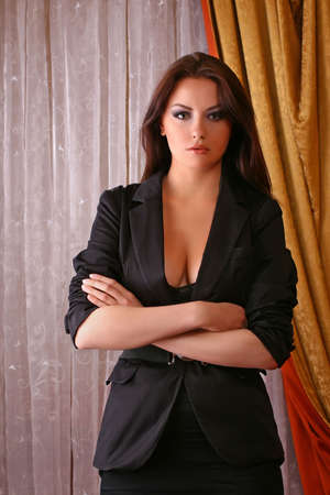 attractive young adult wearing suit