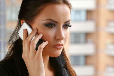 zaken vrouw praten over de telefoon  Stockfoto