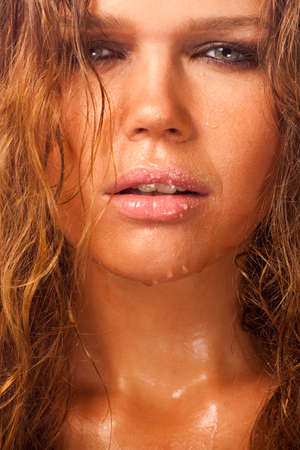 wet woman photo