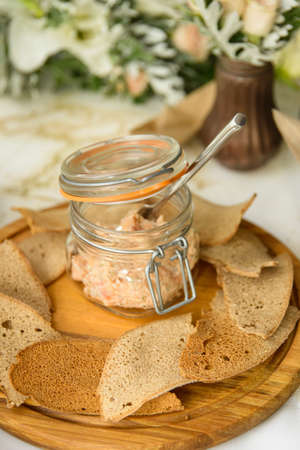 rusk: rusk and spread. snack appetizers