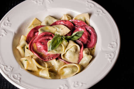 delicious italian beet ravioli pasta