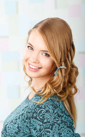 portrait of a beautiful girl with a charming smile
