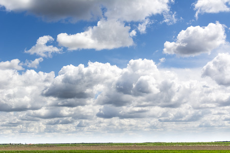 Blue sky and clouds sky, sky background with tiny clouds, Strom clouds. Stock Photo