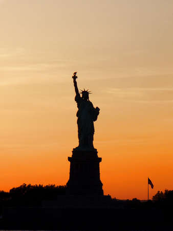 Silhouette Statue of Liberty New York.