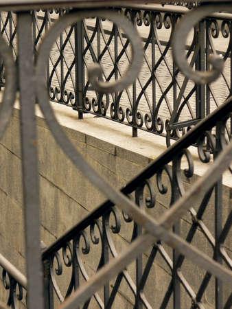 Beautiful wrought-iron fence or balcony-railing. Stock Photo - 5958771