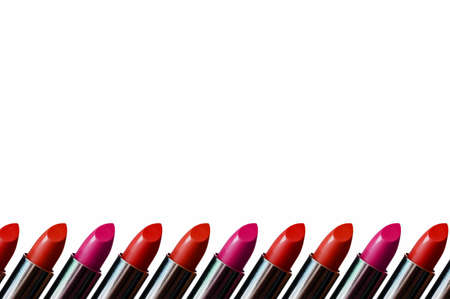 lipsticks: Lipstick Border with space for your text. Stock Photo