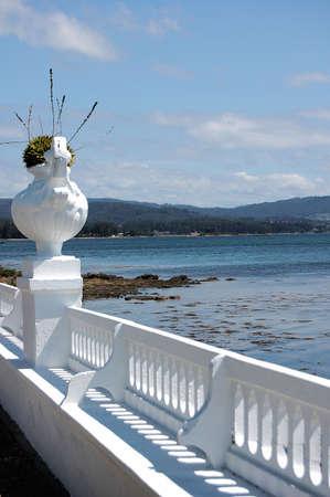 galizia: La Toja, una piccola isola nelle baie inferiore della Galizia, Spagna.