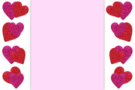 Frame with hearts and space for your text. Stock Photo