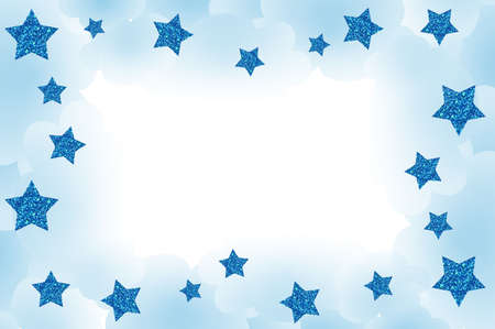Starry frame, with clouds and space for your text. Stock Photo - 5958764
