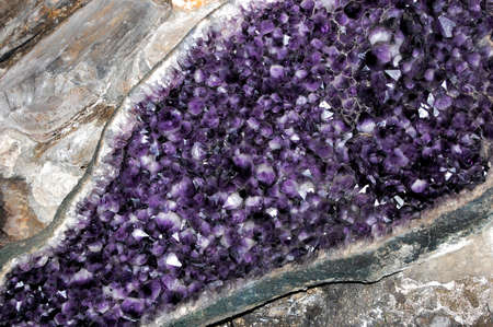Amethyst druze Stock Photo - 10763791