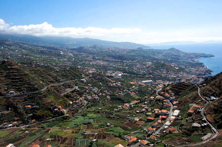 Panoramic city Funchal in Madeira island, Portugal Stock Photo