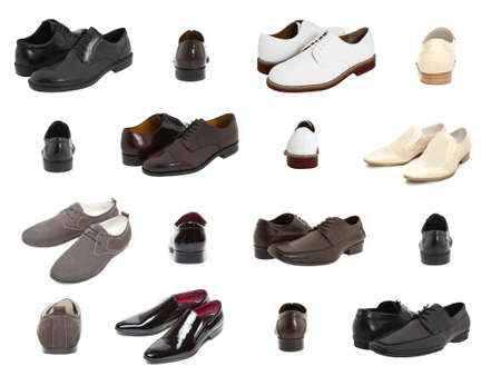oxford: Set of oxford shoes isolated from white background