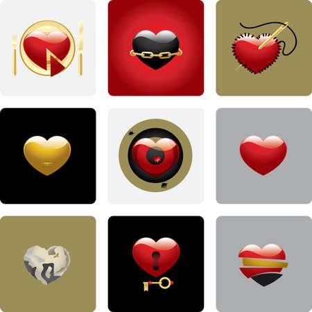Vector hearts - set two Vector