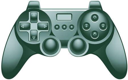 sedentario: Almohadilla de controlador de videojuegos  Vectores