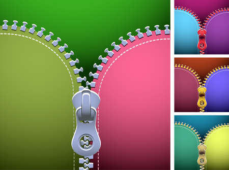 Zipper of different colors