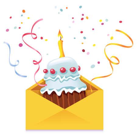 Cake in envelope