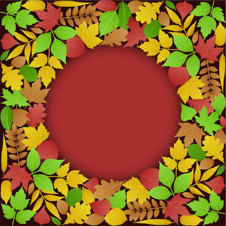 Background made up of autumn leaves Stock Vector - 8067463